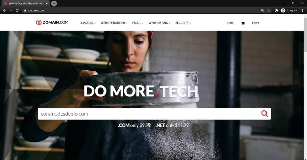 domain.com home page
