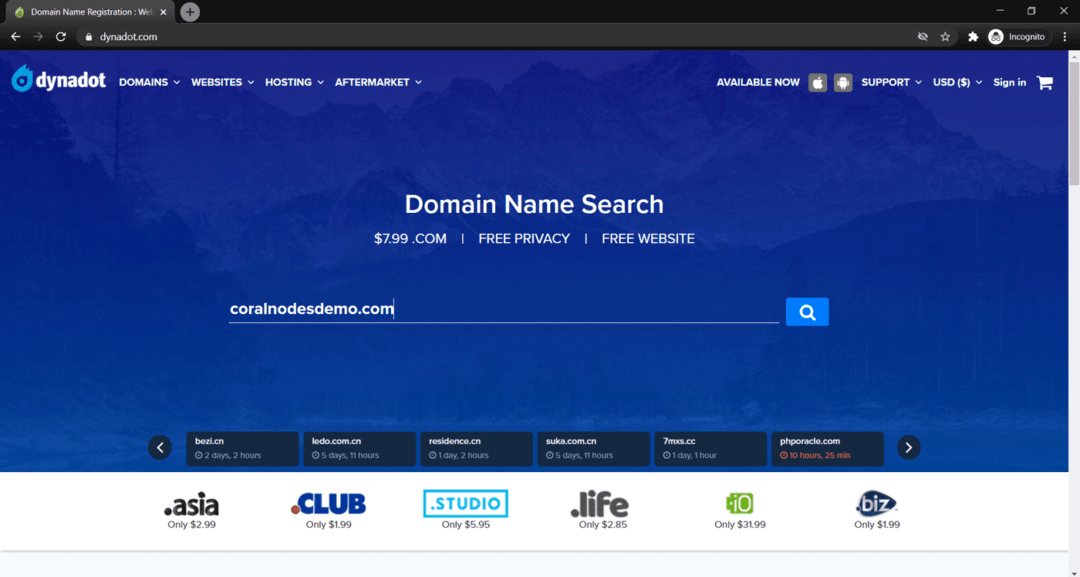 dynadot domain registrar