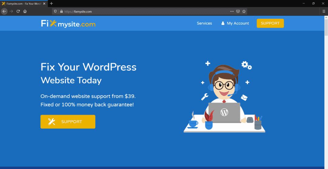 fixmysite - wordpress help service