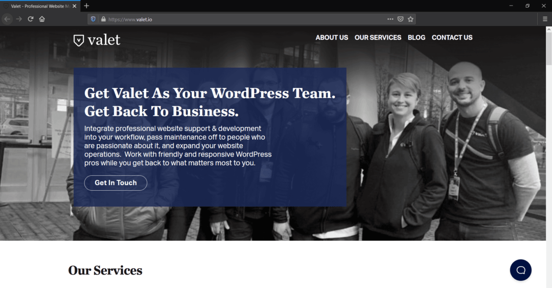 Valet WordPress Maintenance and Support