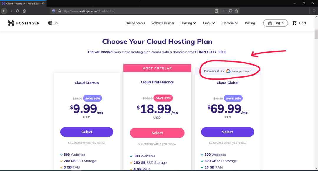hostinger cloud