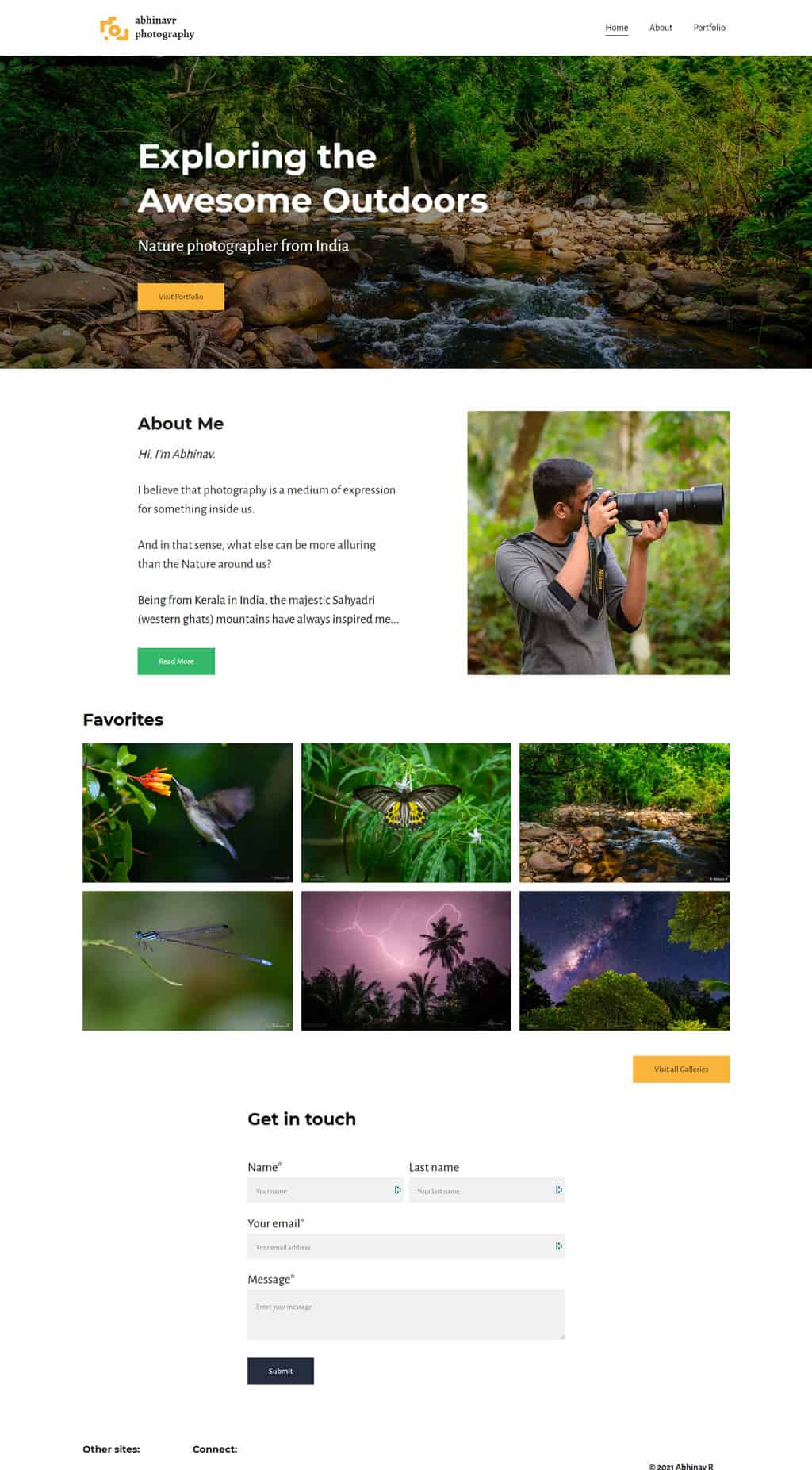 final home page design with Zyro
