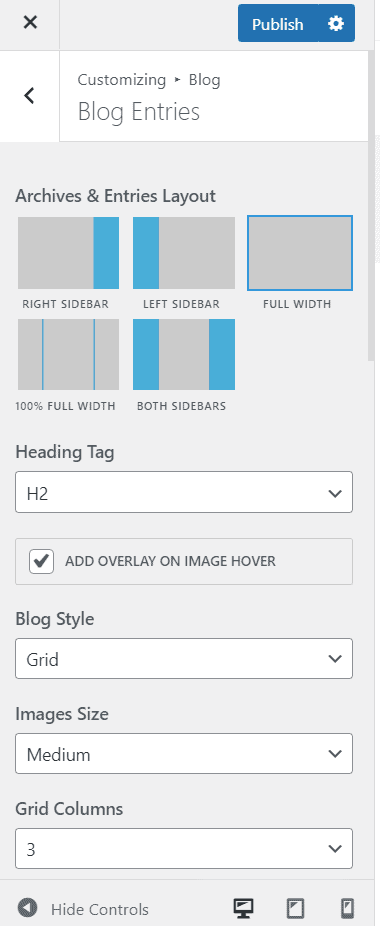 oceanwp blog customizations