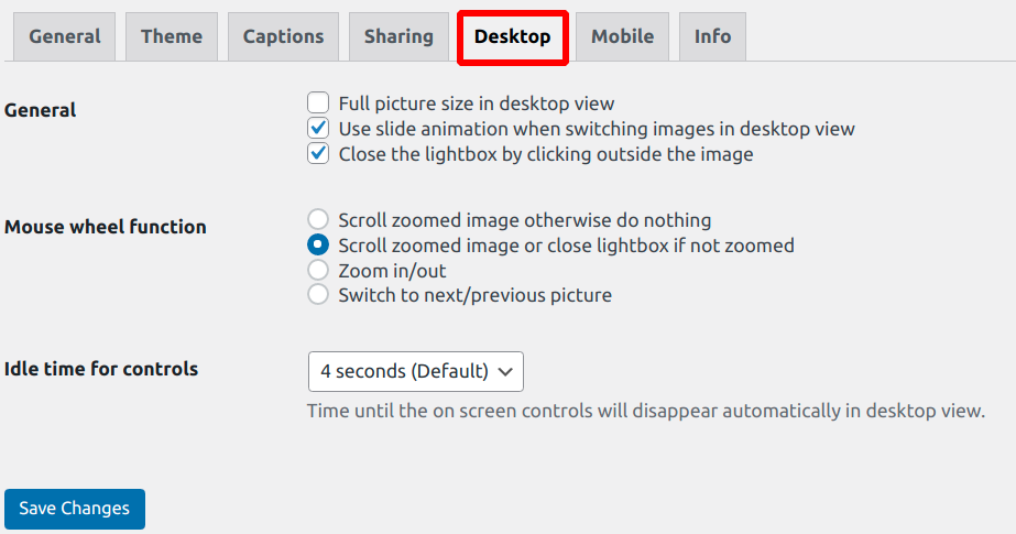 desktop settings