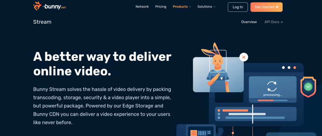 Bunny.net stream - web page - video hosting sites