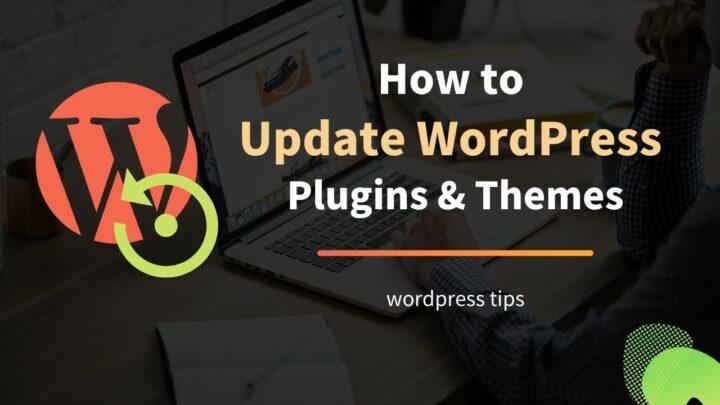 How to Update WordPress Plugins & Themes